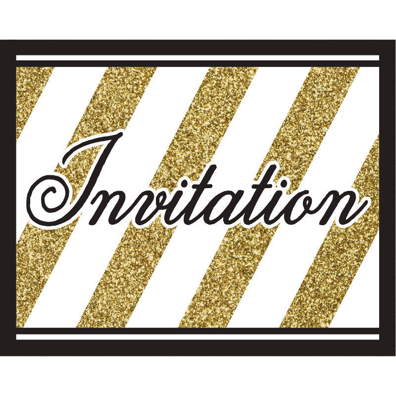 Black & Gold Invitations (8ct)