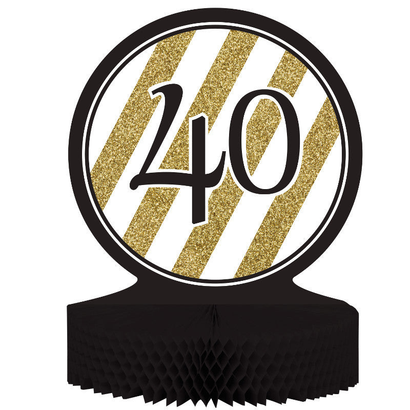 Black & Gold 40 Centerpiece
