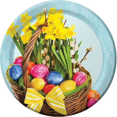 Beautiful Basket Easter Dinner Plates (8 ct)