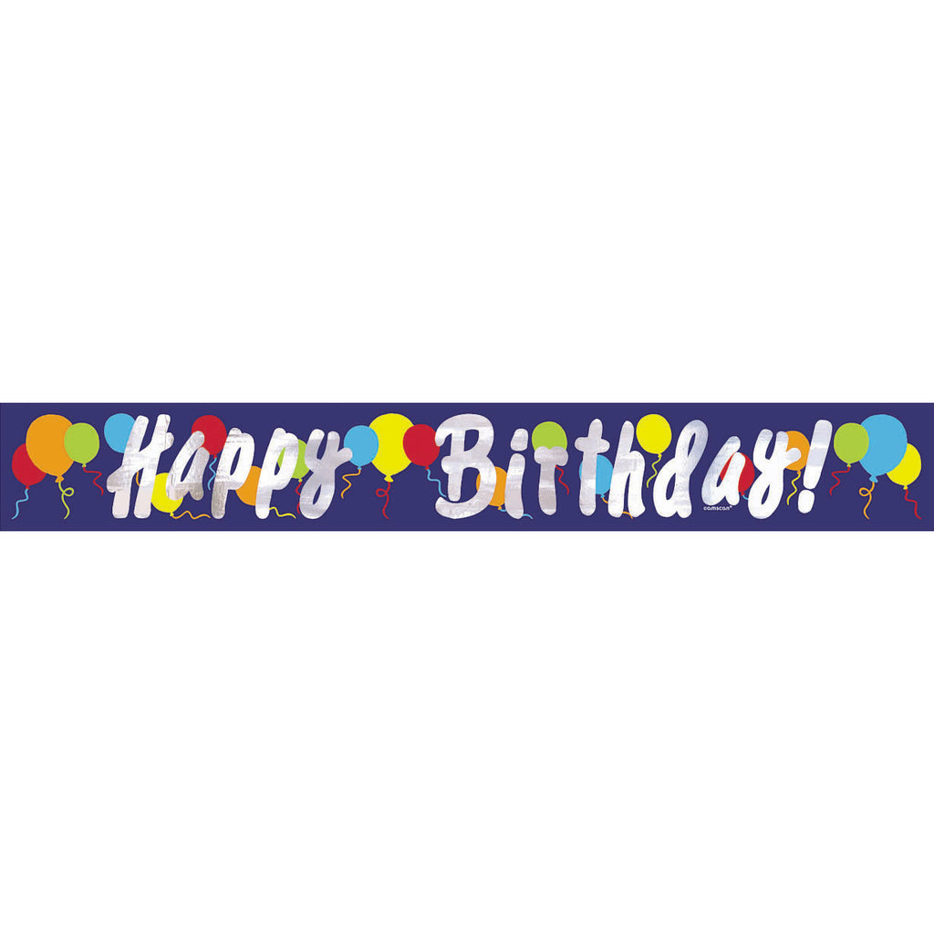 Painted Balloons 15' Foil Banner