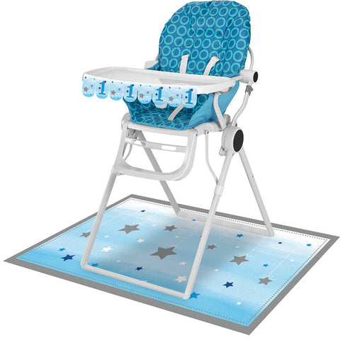 One Little Star Boy High Chair Decorating Kit