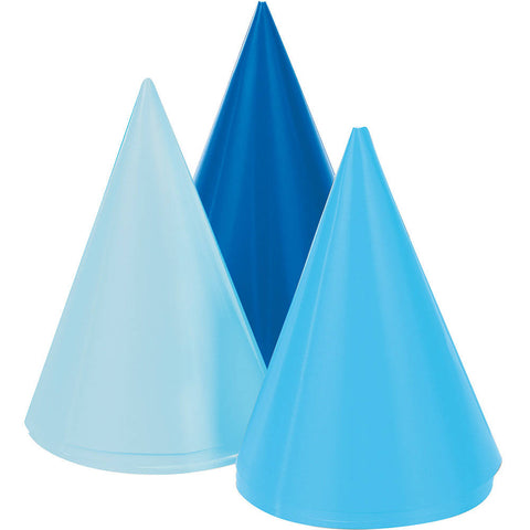 Blue Mini Party Hats (8ct)