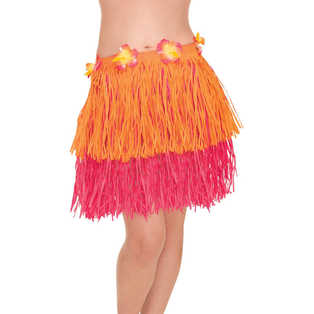 Adult Pink/Orange Hula Skirt