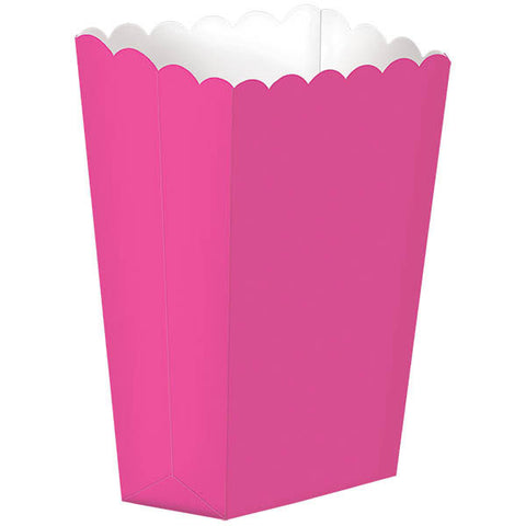 Bright Pink Small Popcorn Boxes (5ct)