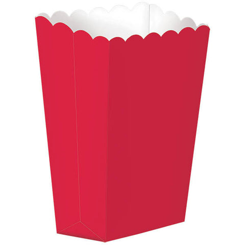 Apple Red Small Popcorn Boxes (5ct)