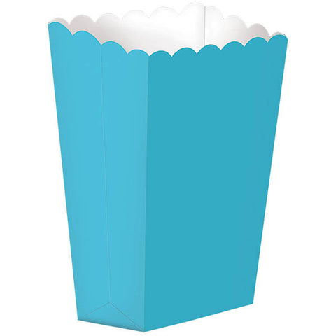 Caribbean Blue Small Popcorn Boxes (5ct)