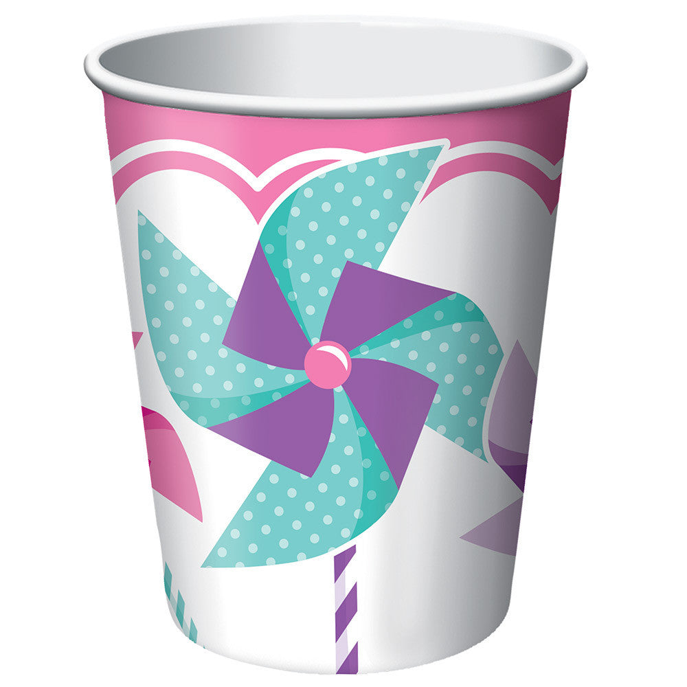 Turning One Girl 9oz Paper Cups (8ct)