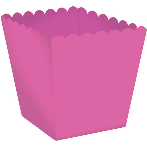 Scallop Favor Box Mega Pack-Bright Pink