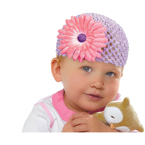 Baby's 1st Easter Flower Knit Cap