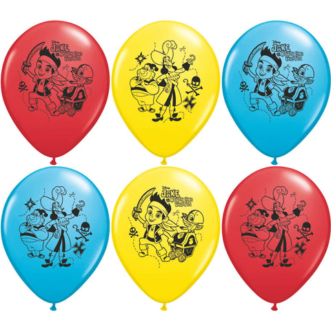 "12"" Jake and The Neverland Pirate Balloons (6ct)"