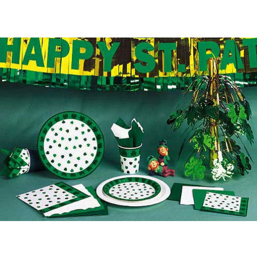 Shamrocks Plastic Tablecover