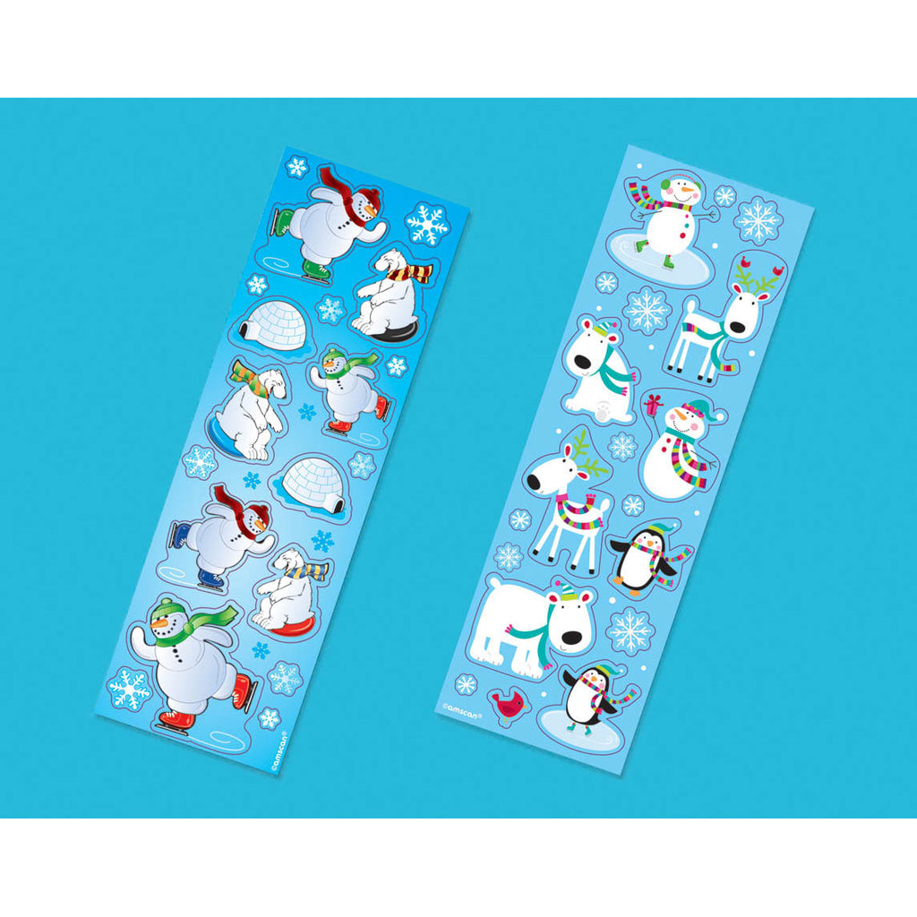 Winter Fun Sticker Strips