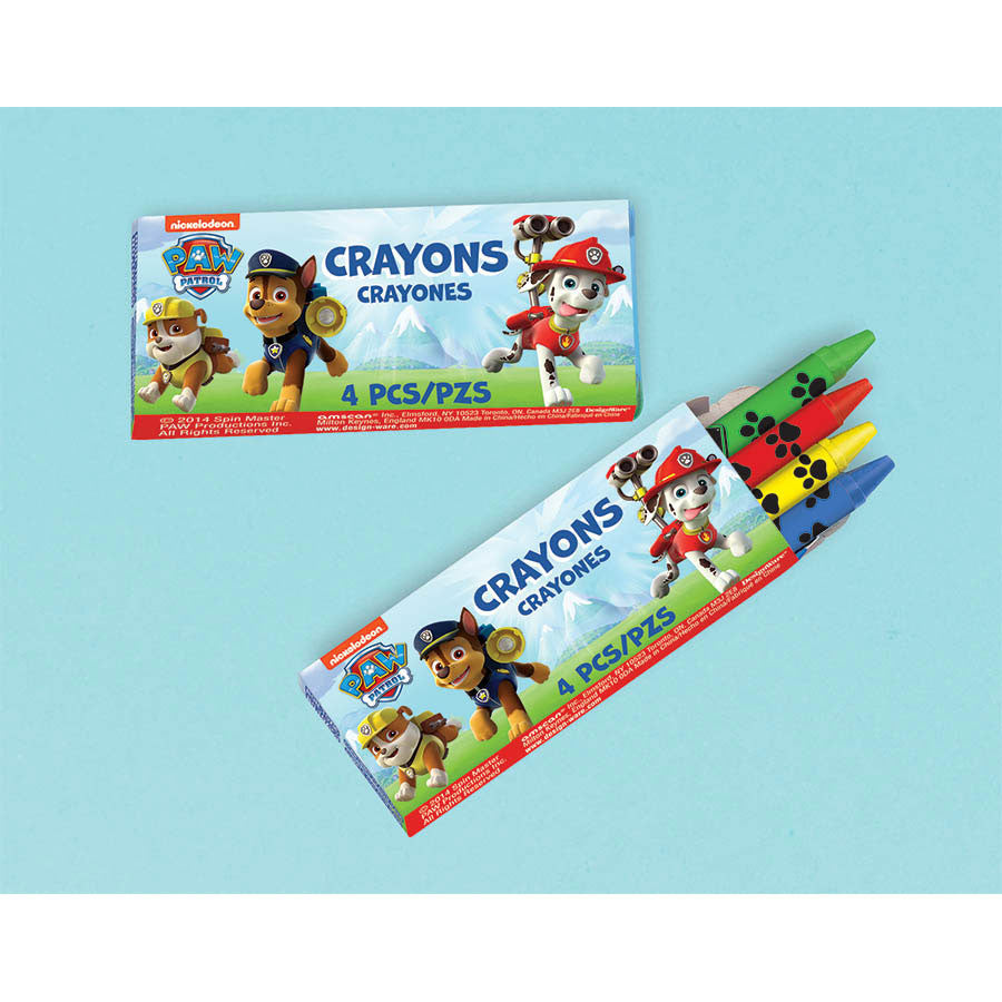 Paw Patrol Packaged Crayons (12ct)