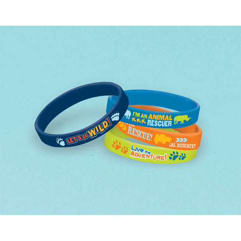 Diego's Biggest Rescue Rubber Bracelets (4ct)