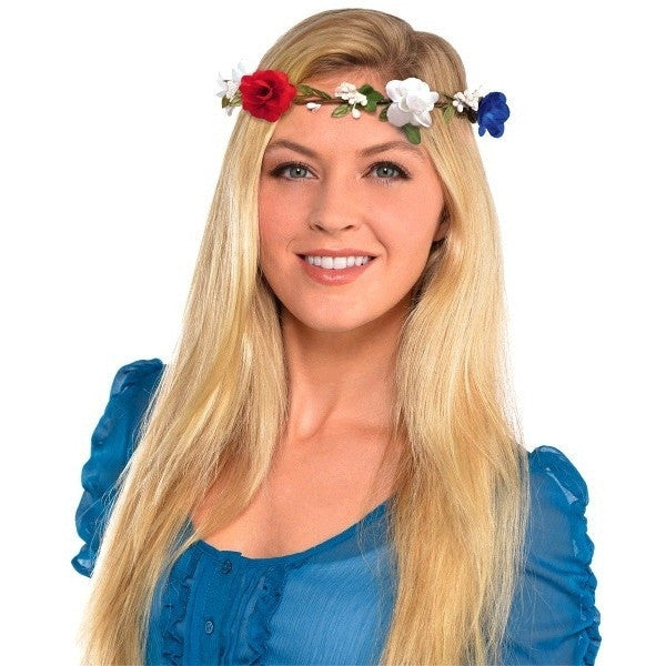 Patriotic Red White and Blue Grapevine Headband