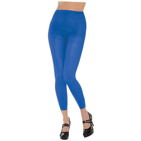 Blue Footless Tights
