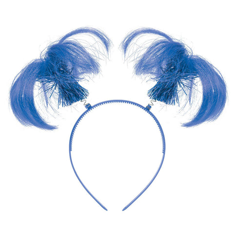 Blue Ponytail Head Boppers