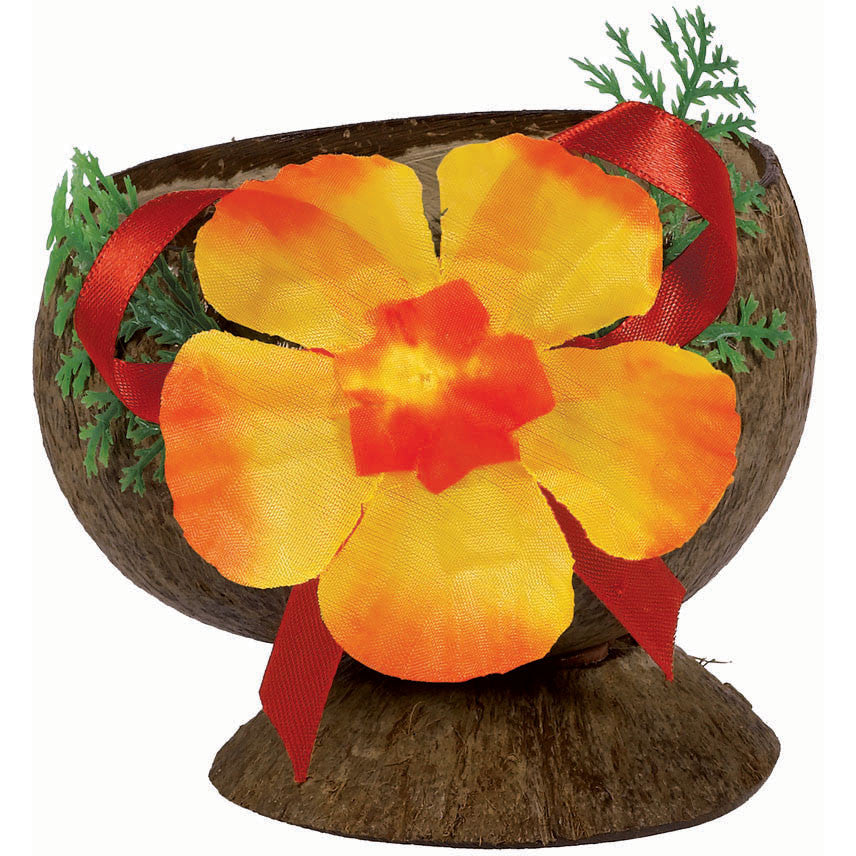 Authentic Cocount Cup w/Flower