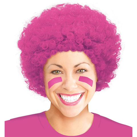 Pink Afro Curly Wig