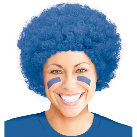 Blue Afro Curly Wig