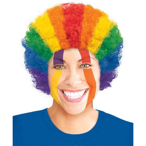 Rainbow Afro Curly Wig