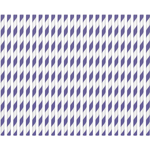 New Purple Paper Straws (80ct)