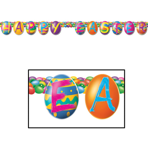 Bright Colored Egg Letter Banner