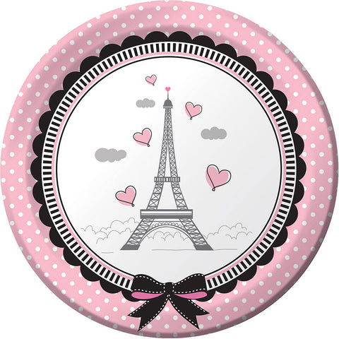 Party in Paris Dessert Plates (8ct)