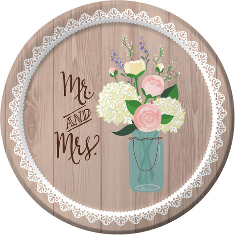 Rustic Wedding Dessert Plates (8ct)