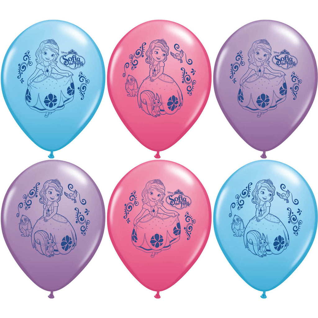 "12"" Sofia the First Latex Balloons"