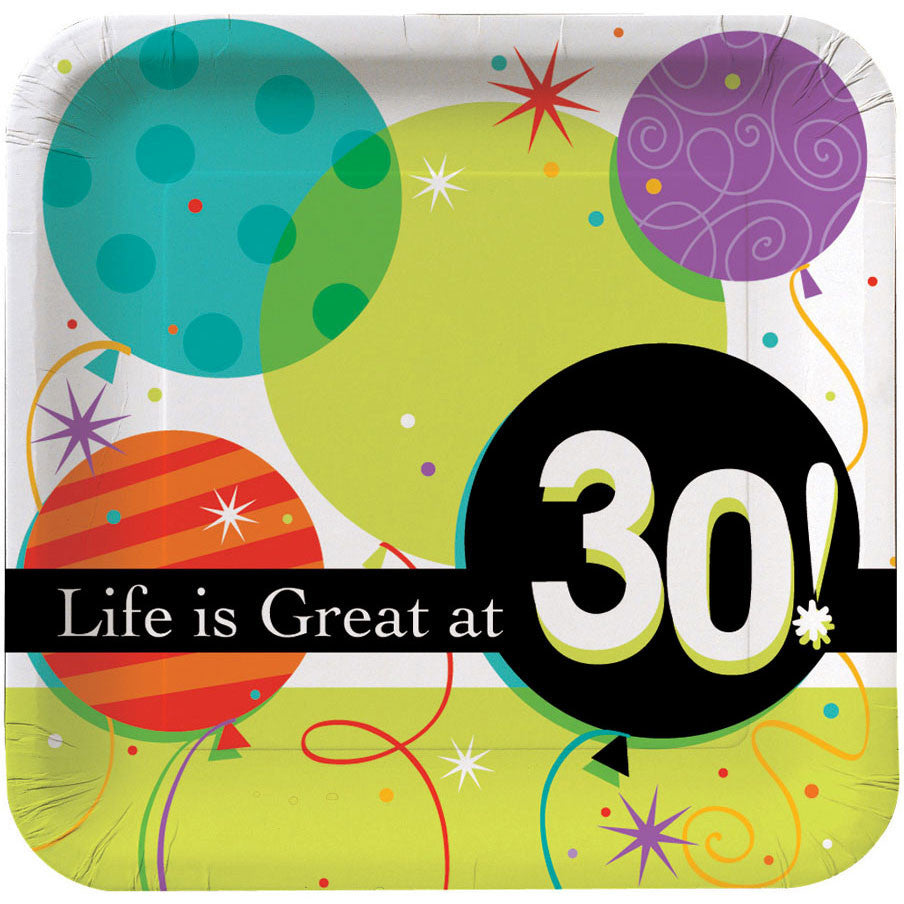 30 Life Is Great Dinner Plates (8ct)