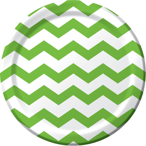 Fresh Lime Chevron Dinner Plates (8ct)