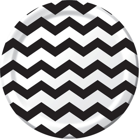 Black Velvet Chevron Dinner Plates (8ct)