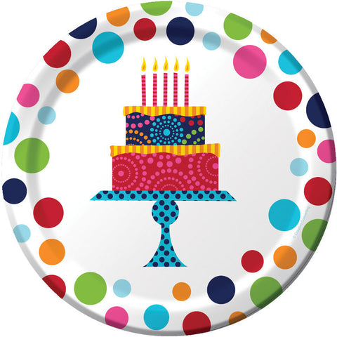 Birthday Cake Stand Dinner Plates (8ct)