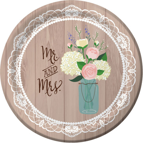 "Rustic Wedding 10"" Banquet Plates (8ct)"