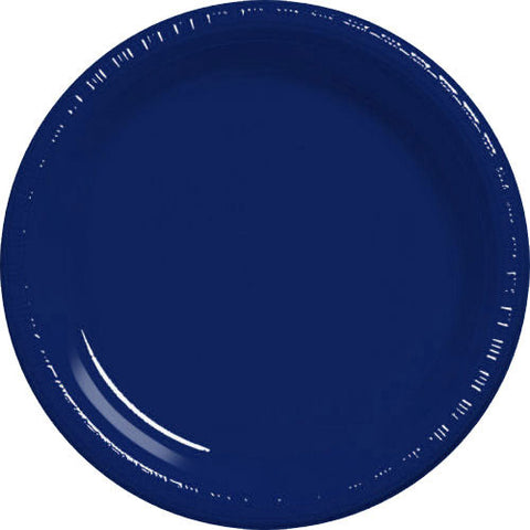 Navy Flag Blue Plastic Dessert Plates (20ct)