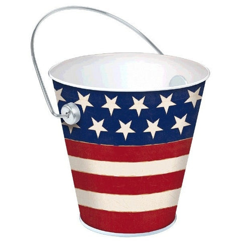 "Patriotic 4"" Metal Bucket"