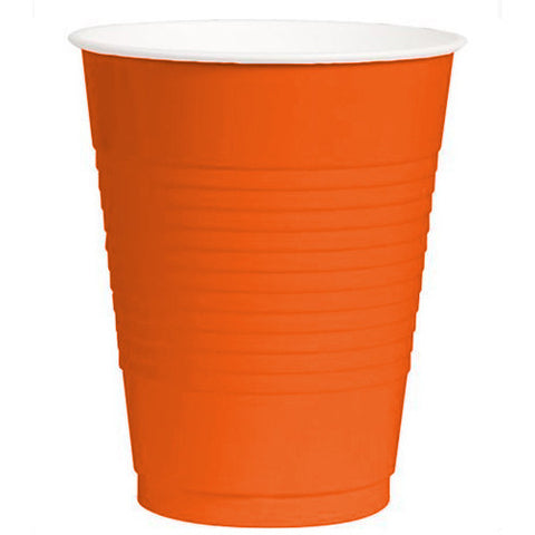 Orange Peel 12oz Plastic Cups (50ct)