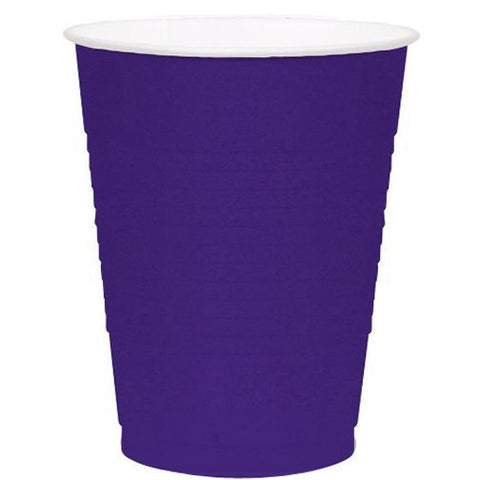 New Purple 12oz Plastic Cups (50ct)
