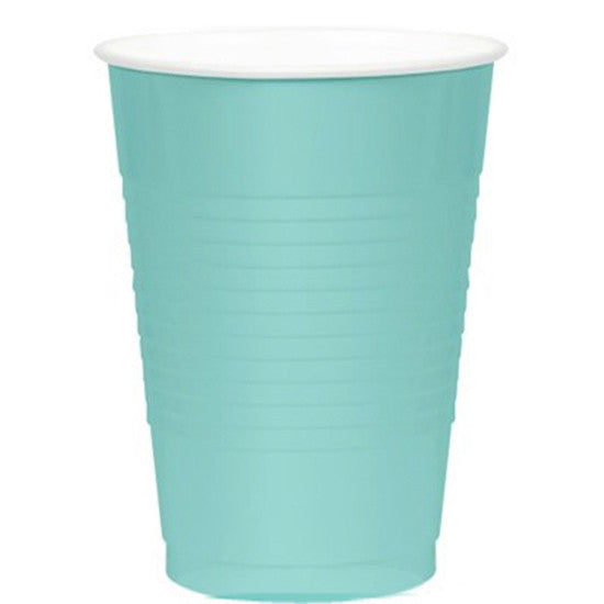 Robins Egg Blue Big Party Pack 16 Oz Plasitc Cups