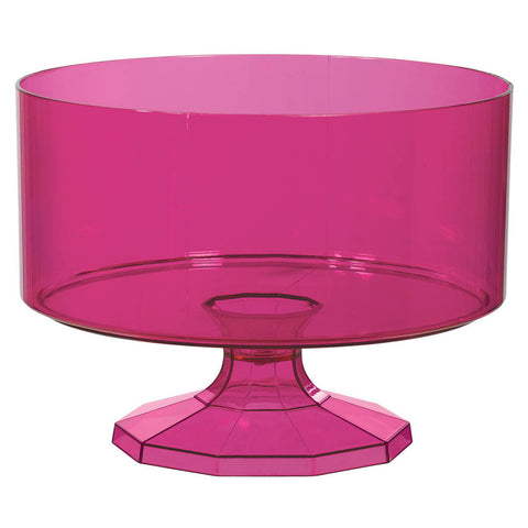Bright Pink Medium Plastic Trifle Container