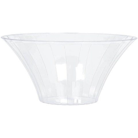 Clear Plastic Flared Medium Serving Bowl