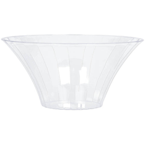 Clear Large Flared Plastic Serving Bowl
