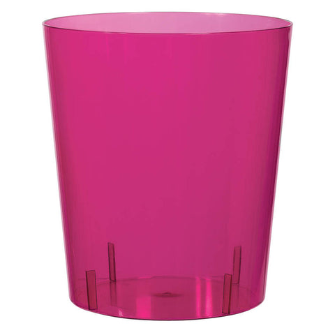 Bright Pink Medium Plastic Cylinder Container