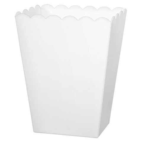 White Medium Plastic Scalloped Container