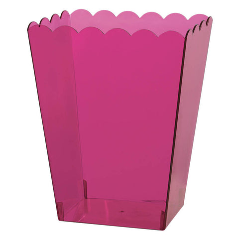 Bright Pink Medium Plastic Scalloped Container