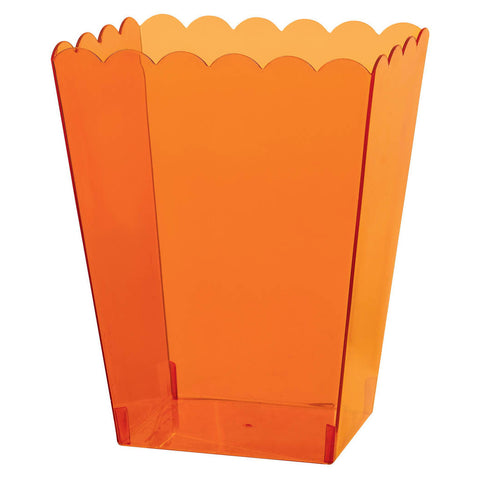 Orange Large Plastic Scalloped Container