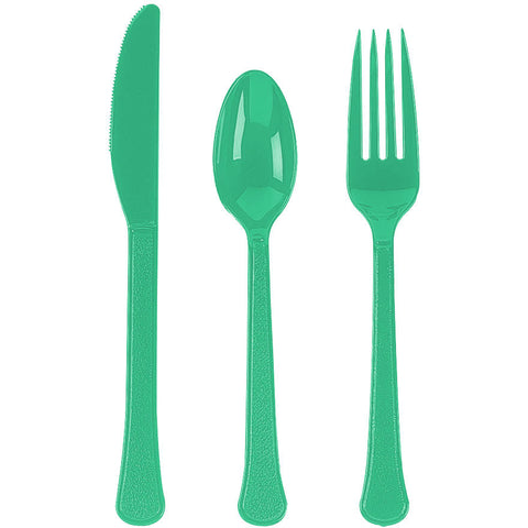 Festive Green Value Weight Cutlery Set (210pc)