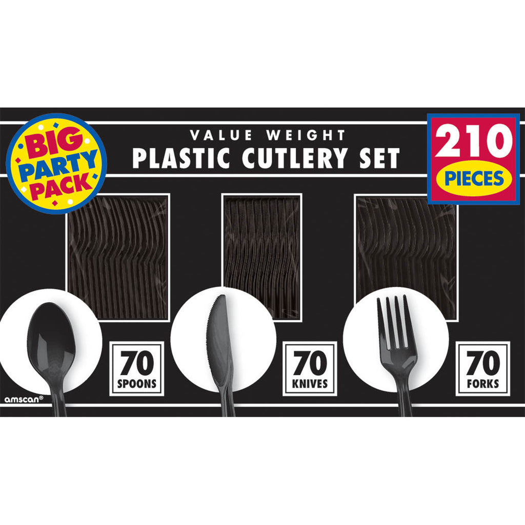 Jet Black Value Weight Cutlery Set