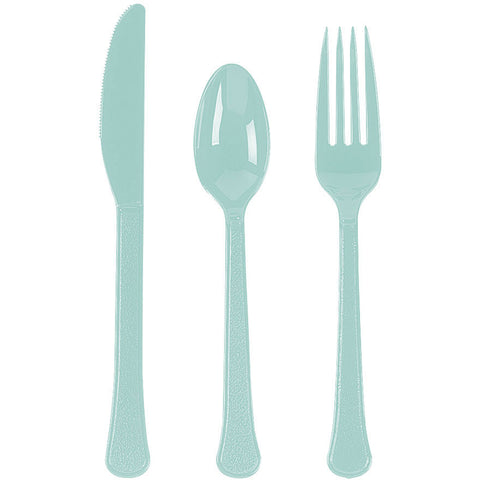 Robin's Egg Blue Value Weight Cutlery Set (210pc)